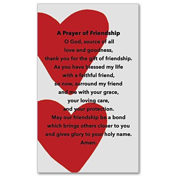 A prayer of friendship prayer card click here for larger picture altavistaventures Image collections