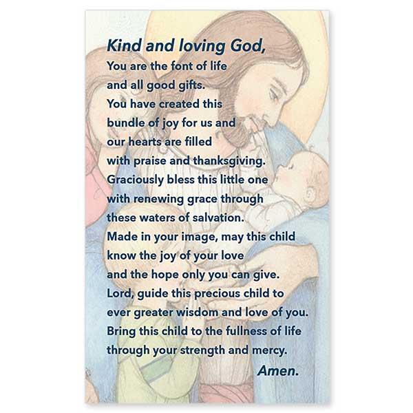 sr  sophie u0026 39 s baptism prayer  baptism prayer card