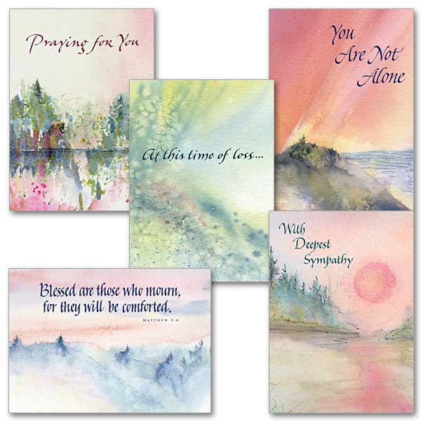 watercolor sympathy collection  assorted sympathy cards