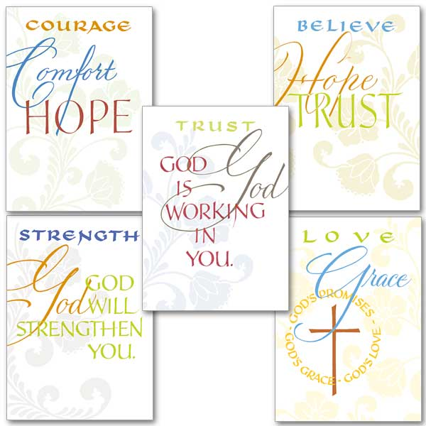 words of support assortment assorted encouragement cards