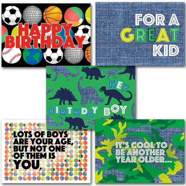 Boys Birthday Card Assortment