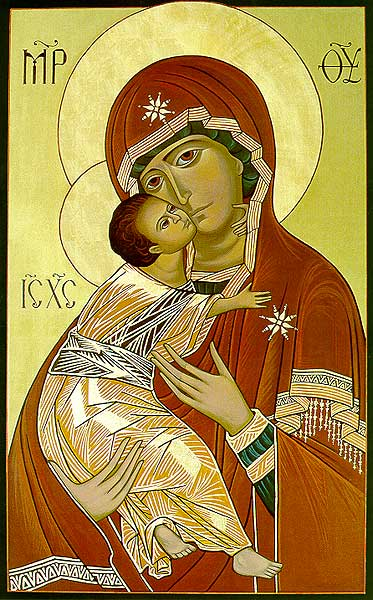 Our Lady Of Vladimir Icon Reproduction