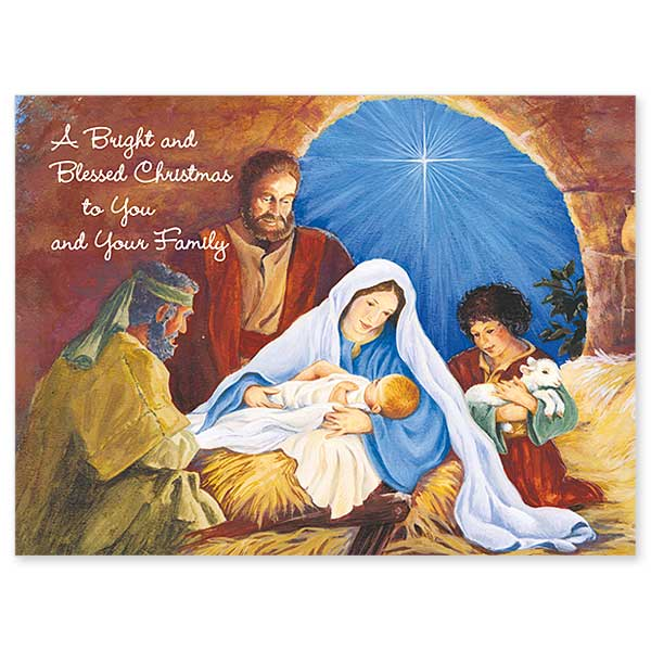 A Bright And Blessed Christmas Christmas Card For Family
