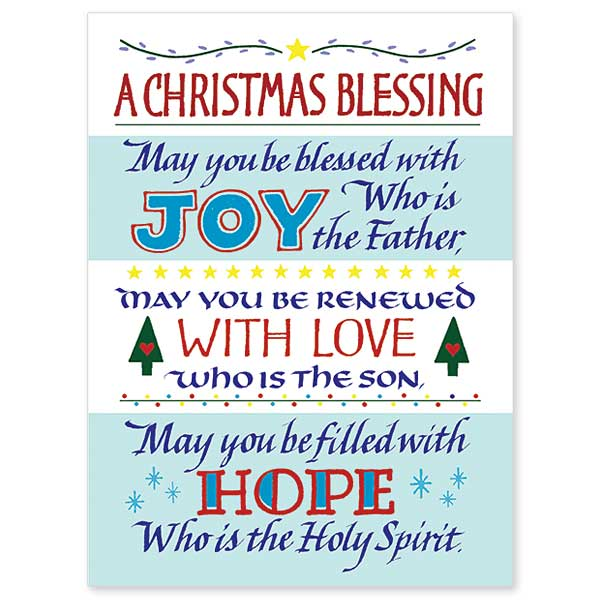 A Christmas Blessing Spirit Of Christmas Card