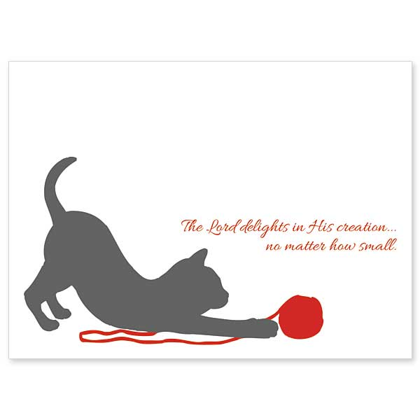 the lord delights in his creation loss of cat sympathy card