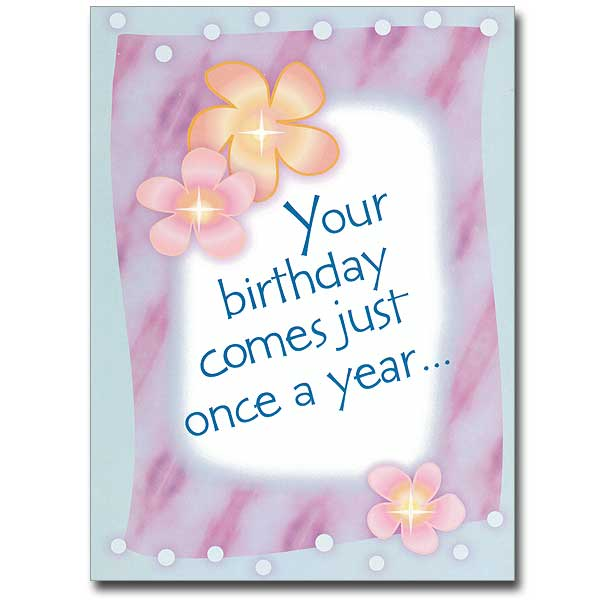 Kikki K Enjoy A 10 Gift Voucher Birthday Email: Your Birthday Comes Just Once A Year: Birthday Card