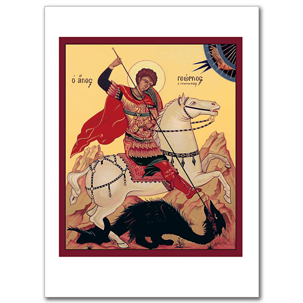 St george and the dragon icon greeting card icon greeting card m4hsunfo