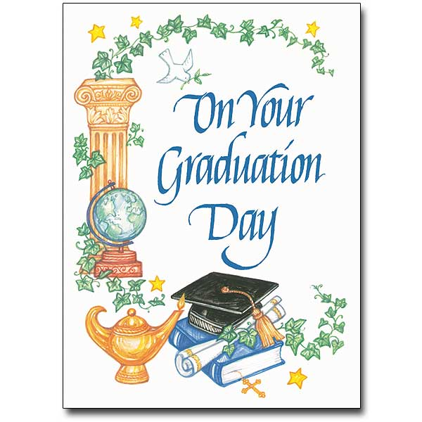 on your graduation day graduation card