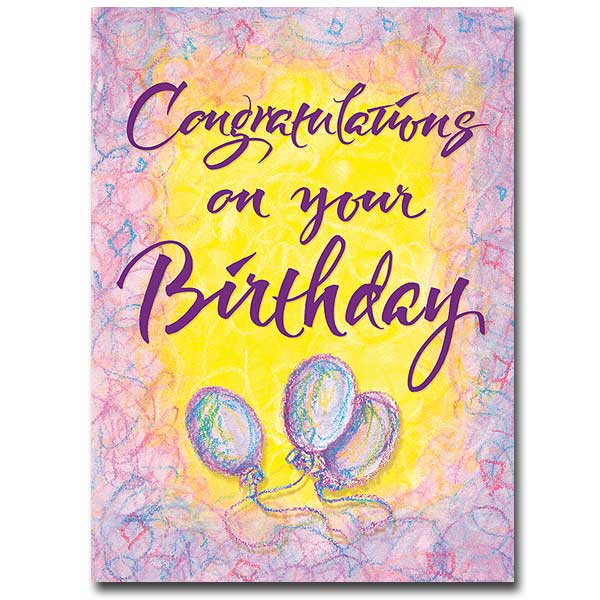 Congratulations On Your Birthday Card
