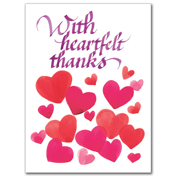With Heartfelt Thanks Thank You – Free Printable Religious Thank You Cards