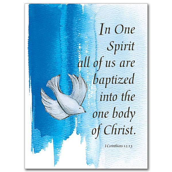In One Spirit: Child Baptism Card