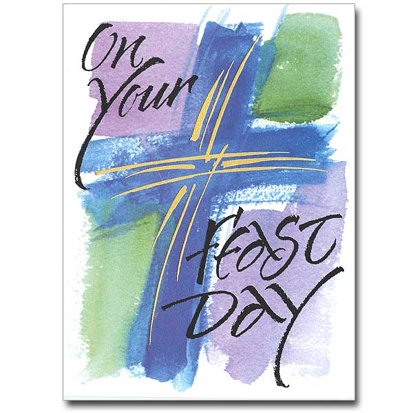 Feast day cards buy religious feastday greeting card online the on your feast day m4hsunfo