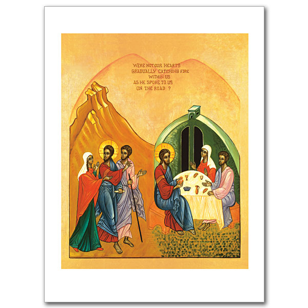 The Road to Emmaus: Icon Greeting Card