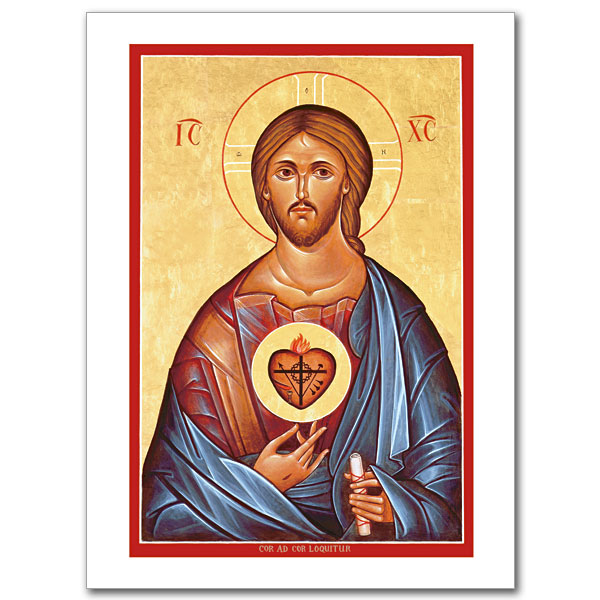 The sacred heart icon greeting card icon greeting card m4hsunfo