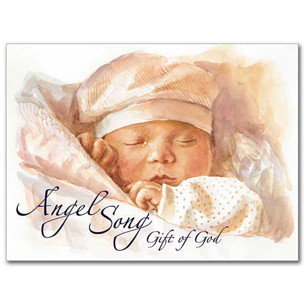 Praying For Gods Blessings For Your New Baby Baby Congratulations Card