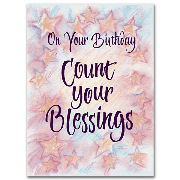 Count your blessings birthday card birthday card bookmarktalkfo Choice Image