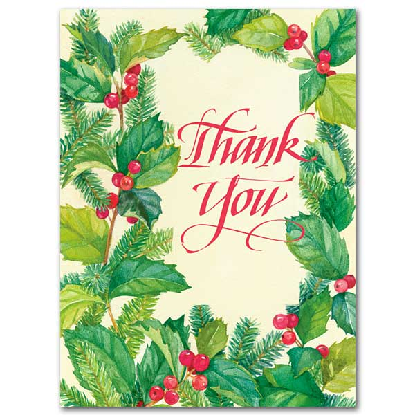 Thank You: Christmas Thank You Cards