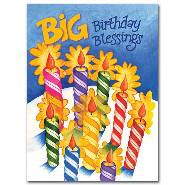 Big Birthday Blessings: Birthday Card
