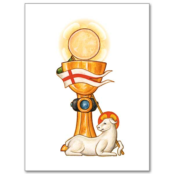 Eucharistic Symbols Mass Card