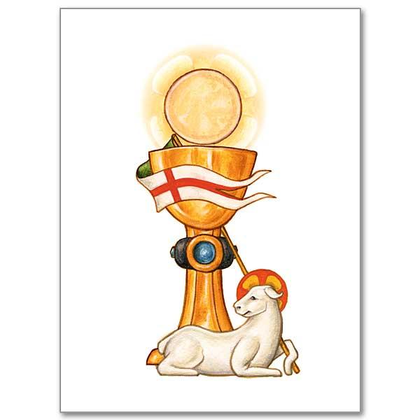 eucharistic symbols mass card
