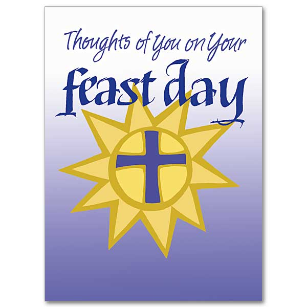 Feastday greetings feast day card thoughts of you on your feast day m4hsunfo