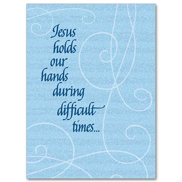 Serious illness cards buy christian get well greeting cards online jesus holds our hands during difficult times m4hsunfo