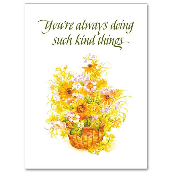 Youre always doing such kind things thank you card thank you card click here for larger picture m4hsunfo