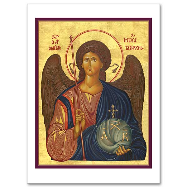 Archangel michael icon greeting card archangel michael icon greeting card click here for larger picture m4hsunfo