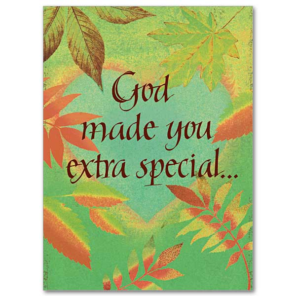 god made you extra special birthday card - Special Birthday Cards