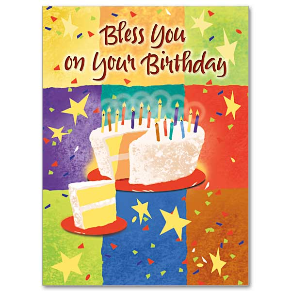 birthday blessing card on the printery house, Birthday card