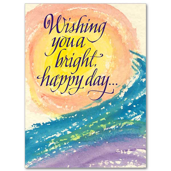 Wishing You A Bright Happy Day Birthday Card