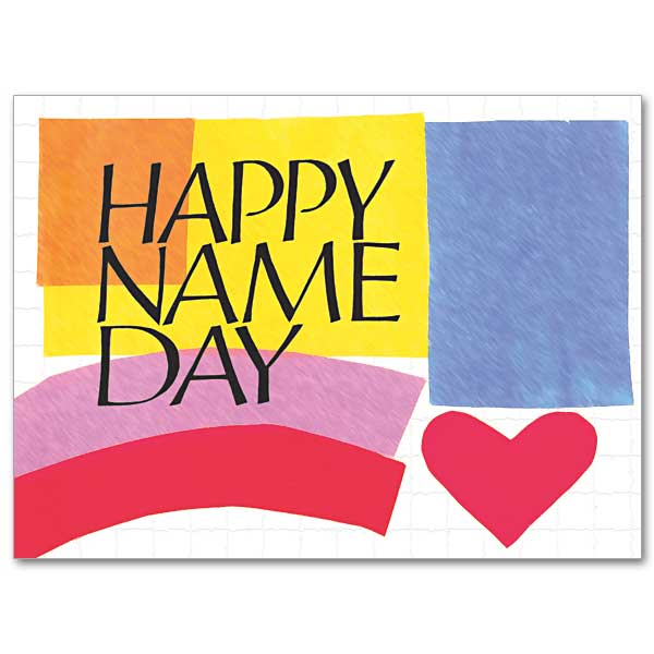 Happy Name Day: Feast Day Card