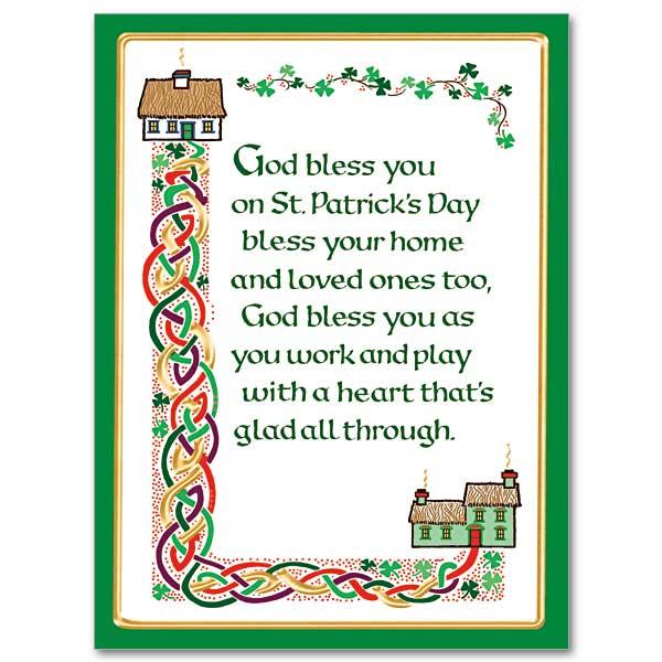 God Bless You On St Patricks Day St Patricks Day Card