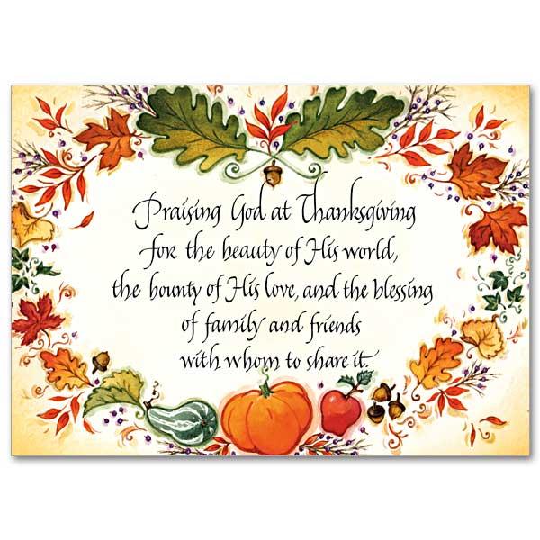 Praising god at thanksgiving thanksgiving card thanksgiving card m4hsunfo