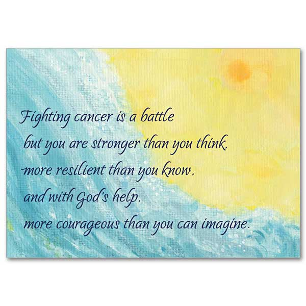 Serious illness cards buy christian get well greeting cards online fighting cancer is a battle m4hsunfo