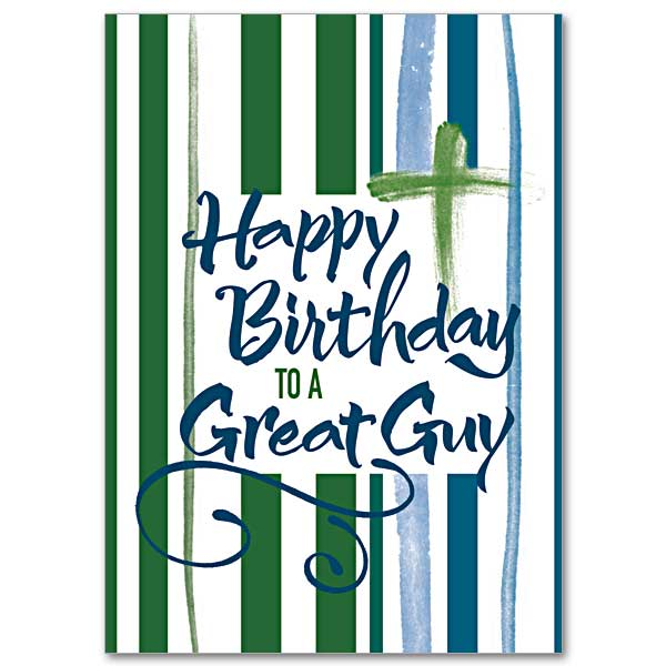 Happy Birthday To A Great Guy: Young Adult Birthday Card