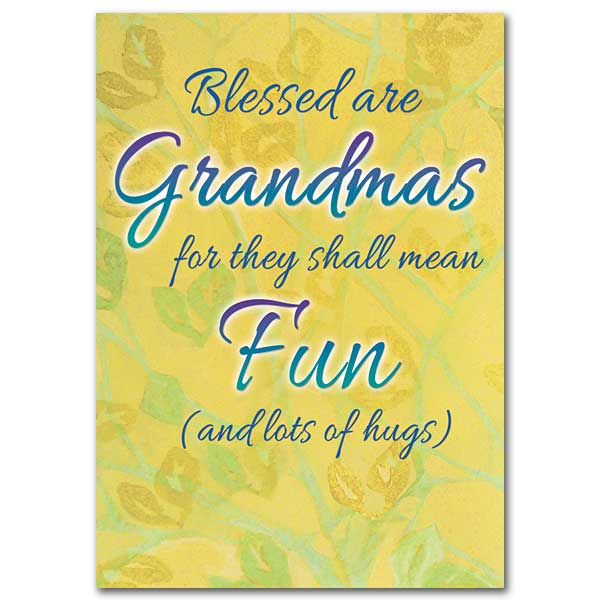 Blessed Are Grandmas Grandma Birthday Card