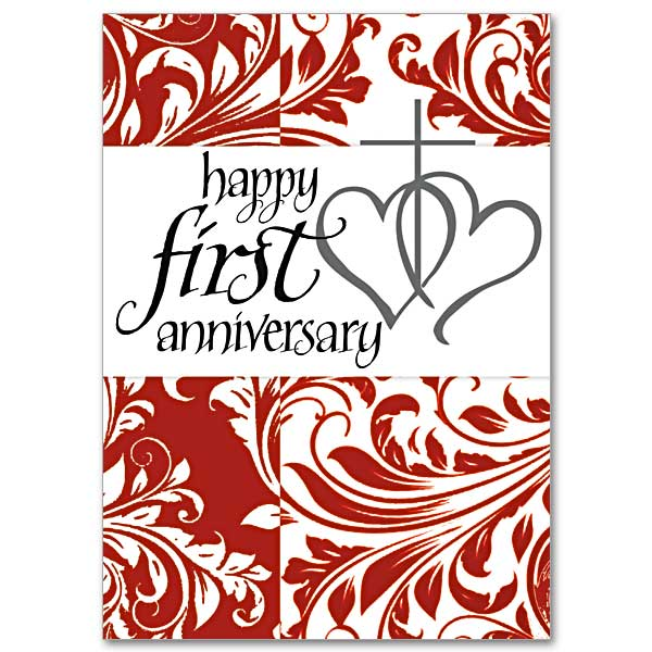 Happy First Anniversary: 1st Wedding Anniversary Card
