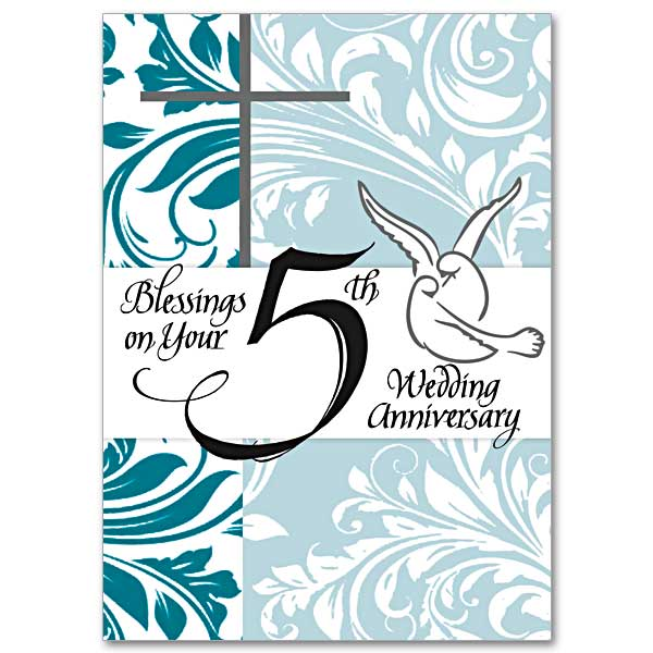 Blessings on Your 5th Wedding Anniversary: 5th Wedding Anniversary Card