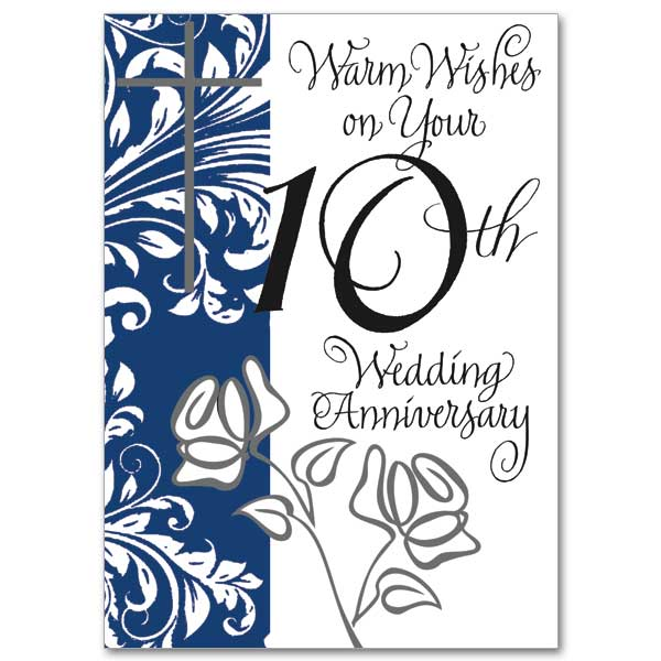 Warm wishes on your 10th wedding anniversary 10th wedding 10th wedding anniversary card m4hsunfo