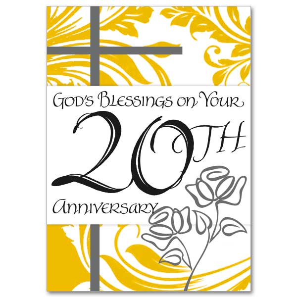 20th wedding anniversary cards