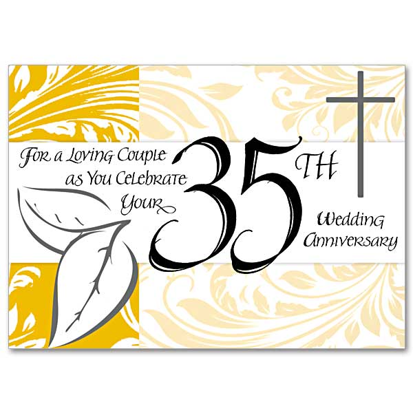 For A Loving Couple As You Celebrate Your 35th Wedding