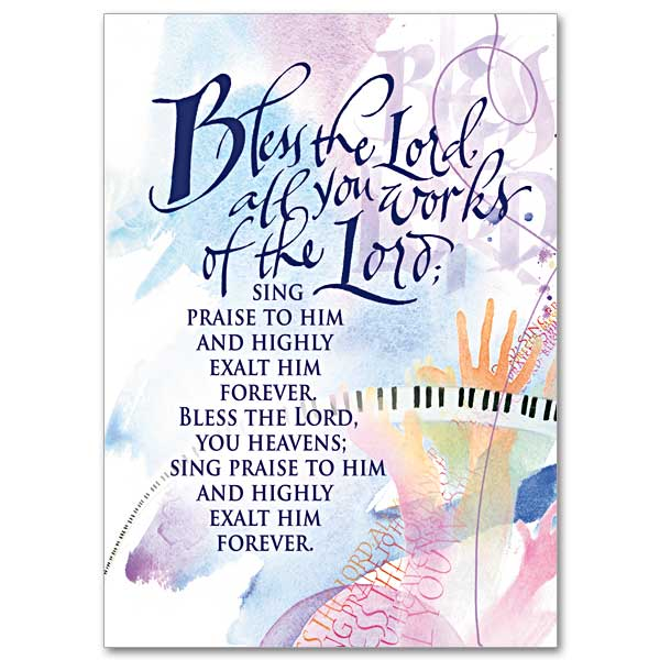 Bless the Lord All You Works of the Lord Birthday Card – Birthday Cards That Sing