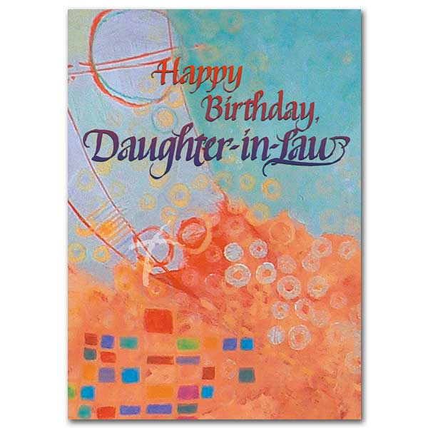 Happy Birthday Daughter-in-law: Birthday Card