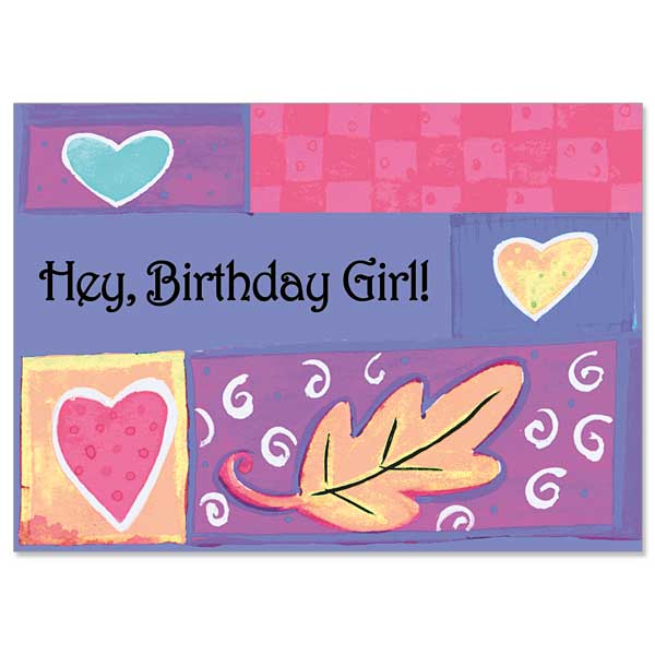 Hey Birthday Girl Birthday Card For Girl