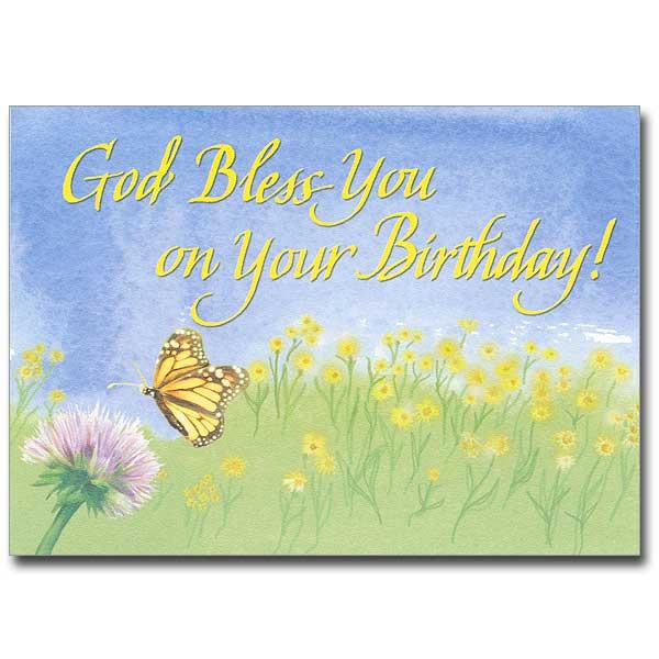 God Bless You On Your Birthday Birthday Card