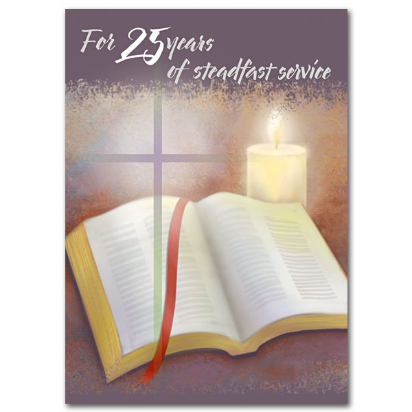 For 25 years of steadfast service 25th ordination anniversary card 25th ordination anniversary card stopboris Choice Image