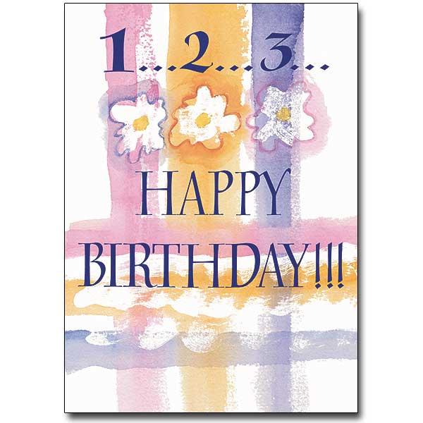 123 Happy Birthday Card