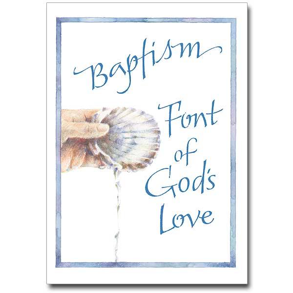 Baptism Font Of God S Love Adult Baptism Card