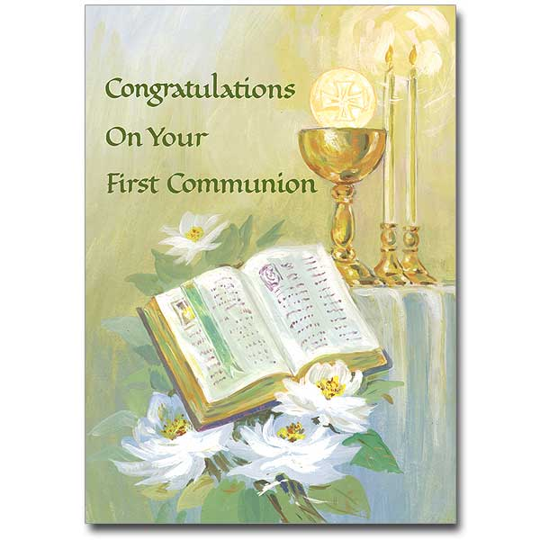 graphic about First Communion Cards Printable referred to as Congratulations upon Your Initially Communion: Initially Communion Card